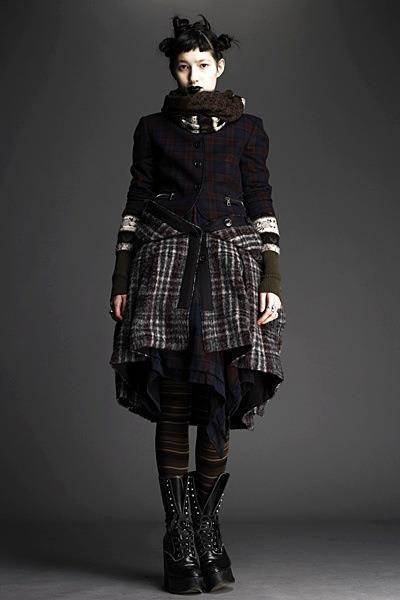 Dark Mori look from Alexander McQueen.